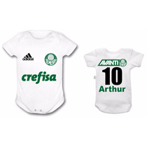 Body Palmeiras Time Futebol Bebê Personalizado Infantil