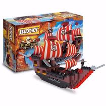 Barco Pirata 560 Piezas Blocky Ladrillos Para Nenes