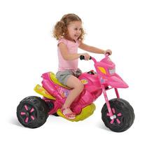 Moto Eletrica Infantil Rosa Triciclo Criança Menina