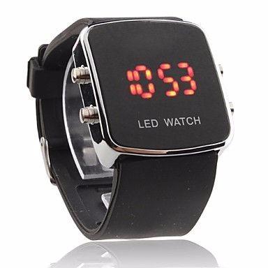 7fcdd7479c9 Relógio Luxo Led Watch Preto - Prata - R  34