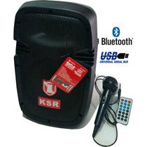 Bocina Bafle 8 Recargable Bluetooth Microfono