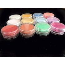 Pó Acrílico Colorido 12 Cores P/ Decoração Unhas Porcelana.