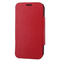Funda Cartera Piel Roja Giratoria Galaxy Note Ii / N7100