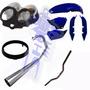 Kit Carenagem E Escape Mini Gp P/ Titan 125 Ano 2000