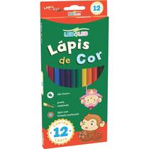 Kit 12 Caixas Lápis De Cor 12 Cores Escolar Leo Leo Atacado