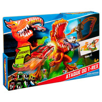 Pista Hot Wheels - Ataque Do T-rex - Mattel