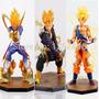 3 Muñecos Dragon Ball Z Figuart(goku,vegeta,trunks) Super Sa