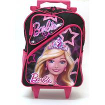 Mochila Barbie Princesas Rodinhas 2 Bolsos Tam G - Boleto
