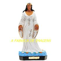 Escultura Iemanja Rainha Mar Imagem 40c Estatua Vestido Luxo