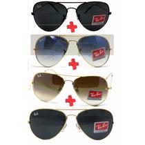 Óculos De Sol Ray Ban Feminino Masculino Aviador Atacado