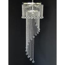 Lustre Escada / Hall Cristal Acrilico 30x1,25cm - Bivolt
