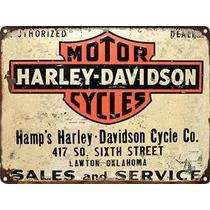 Posters Antiguos 60x40 Chapa Moto Harley Davidson Mot-434