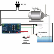 Kit Control Nivel Agua Acuario Tinaco Cisterna Arduino Pic