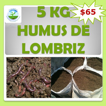 Lombricomposta 5 Kg Humus De Lombriz Abono Orgánico Sustrato