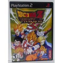 Jogo Ps 2 - Dbz Dragon Ball Z Budokai Tenkaichi 3 Game
