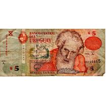 Billete Uruguay 5 Pesos Regular Fuera De Circulacion