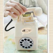 Alcancia Telefono Vintage Blanco