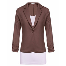 366 Blazers Elegante Saco Estilo Casual Juvenil Moda Asia