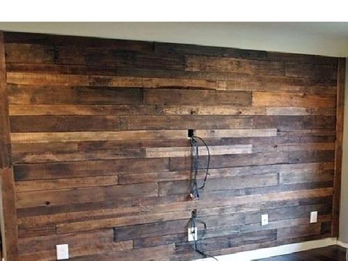 Muro recubrimiento de madera 100 nueva 1ra calidad - Muro de madera ...