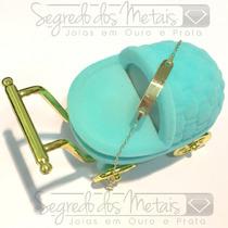 Pulseira Chapinha Bebe Ouro 18k 12x Sem Juros + Frete Gratis
