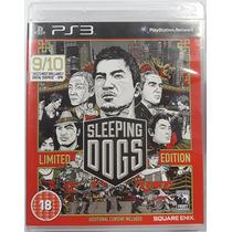 Sleeping Dogs Limited Edition Ps3 Mídia Física Lacrado R2