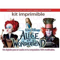 Kit Imprimible Candy Bar Alicia En El Pais De Las Maravillas