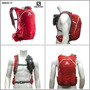 Mochila Salomon Agile 17 Litros Ideal Running (rojo/negro)