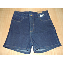 Shorts Hot Pants Tamanho 44 46 Cintura Alta Jeans Black