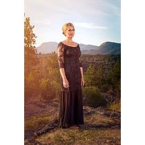 Vestido De Gala Com Transparência Dois Em Um Renda - Legabo