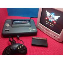 Master System 3 + Controle + Cabo Rf + Sonic Memória