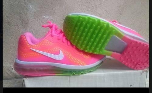air max rosa com verde