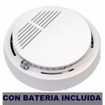 Sensor Humo Detector Cert Bateria 9 Vcc Incluida !!