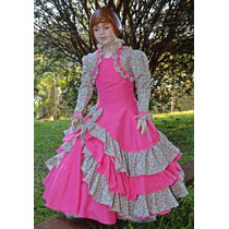 Vestido De Prenda Infantil 6-8-10-12 C/ S Armação Mod. Luíza