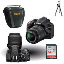 Câmera Nikon D3200 18-55mm+bolsa+64gb Cl10+tripé+kit Limpeza