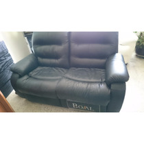 Sillón Reclinable Boal Love Seat Piel Genuina Negro