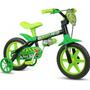 Bicicleta Infantil Nathor Aro 12 Masculino Black Ver-pt