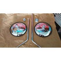Espelho Retrivisor Ex Kombi Corujinha Antiga Cromado Par D/e