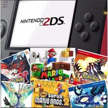 2ds + 16 Jogos Originais Pokemon X Y Saphire Ruby Roda 3dsxl