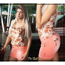 Mini Saia Pitbull Pit Bull Jeans Original Levanta Bumbum 44