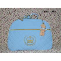 Bolsa Mala Maternidade Bebe Masculino Menino Principe Azul