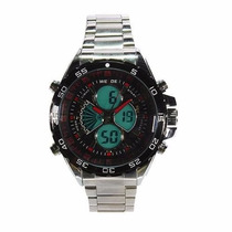 Relógio Pulso Weide Sports Led Digital E Analógico Wh-1103-3
