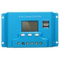 Controlador De Carga Solar 10a Sistema Fotovoltaico