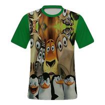 Camiseta Personalizada 3d Madagascar
