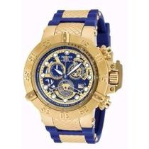 Relógio Invicta Subaqua 18527 Dourado Original Com Cx W2