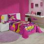 Colcha Solteiro Infantil Barbie Super Princesa Matelassê