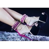 Sandalia Preto Com Pink