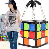 Bolsa De Mano Para Mujer En Forma De Cubo Rubik M2169