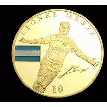 Moneda Onza Lionel Messi Barcelola De Coleccion