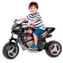 Motinha Eletrica De Verdade Infantil Preta Moto Max Magic