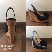Zapatos Tacones Para Dama Nine West Originales Talla 7 Lb